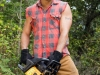 As a Lumberjack in Chainsaw (photo by Brian Mills)