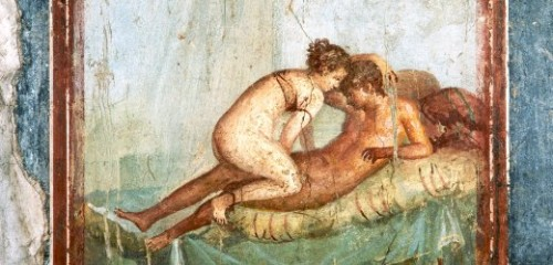 Erotic Fresco Painting From Pompeii