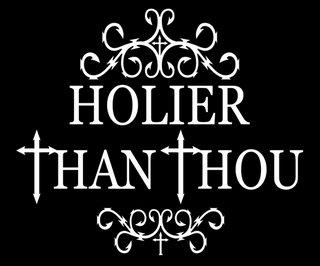 holier-than-thou