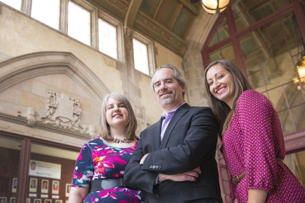 Study co-authors Kathryn Klement (left), Brad Sagarin and Ellen Lee.